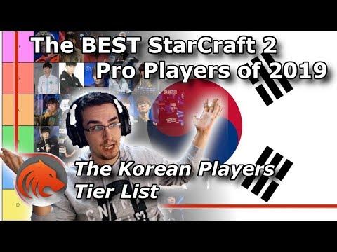 Best Korean StarCraft 2 Player Tier List for 2019!