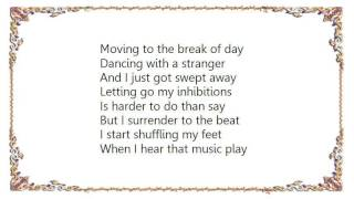 Cyndi Lauper - Dancing with a Stranger Lyrics