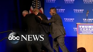 Donald Trump Rushed Offstage by Secret Service