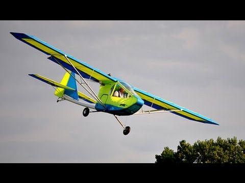 Learn to fly the Hawk Ultralight Aircraft Landings Stalls Roy Dawson video