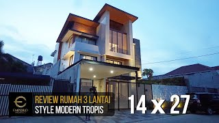 Video Construction Results Mr. Arnold Modern House 3 Floors Design II - Jakarta
