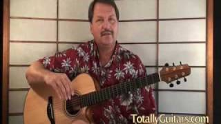 Acoustic Guitar lesson Preview The Circle Game by Joni Mitchell