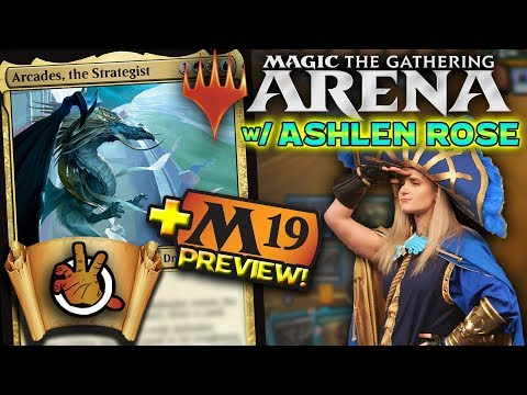 MTG Arena +M19 Preview Card w/ Ashlen Rose | The Command Zone #215 | Magic: the Gathering Commander