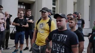 Protest górników przed siedzibą PGG w Katowicach