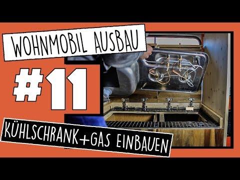 KÜHLSCHRANK IM WOHNMOBIL & GAS TESTEN IN KÜCHE | CAMPER SELBSTAUSBAU F.11 | VANLIFE
