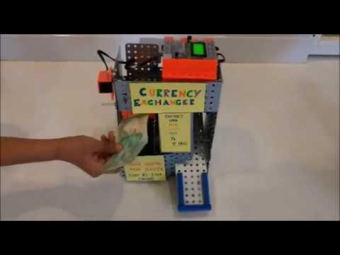 Hi Tech Currency Exchanger Robotic Machine