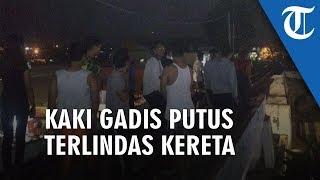 Video Detik-detik Gadis Kehilangan Kaki setelah Tertabrak Kereta saat Nongkrong di Atas Rel di Bogor