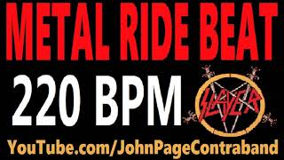 Metal Ride Beat 220 bpm Slayer Style Drums Only Track Loop