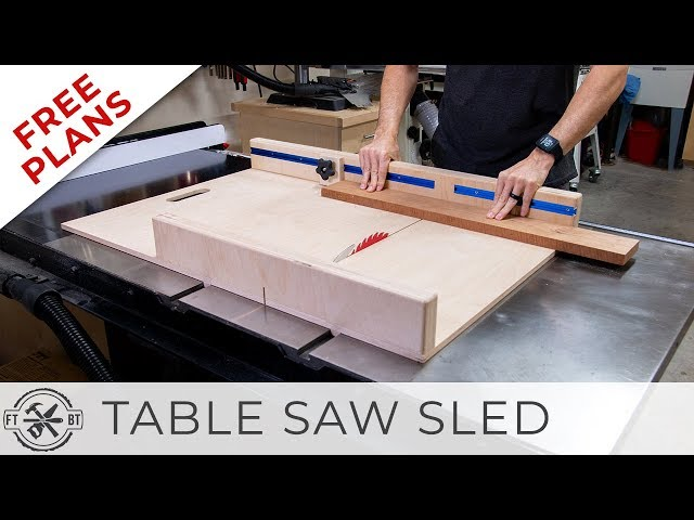 Simple Table Saw Sled with FREE Plans | DIY Woodworking