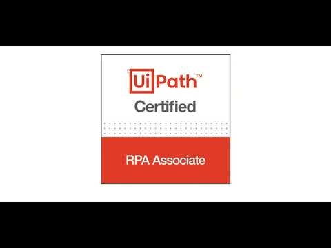 UiPath Certified Professional - Certificate and Logo - YouTube