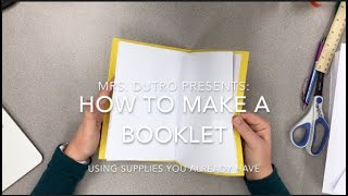 How To Make A Staple-Free Booklet