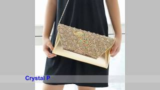 Peacock Crystal Party Bags and Diamond Party Bags