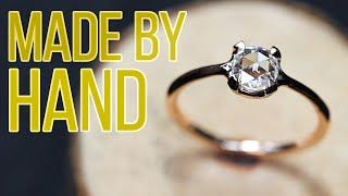 Modern Goldsmith: Handmade Wire Ring with Rose Cut Stone