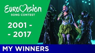 Eurovision 2001-2017: My Personal Winners