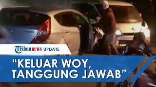 Viral Video Pria Tantang Pengendara Mobil yang Picu Kecelakaan, Korban Dibacakan Doa di Tengah Jalan