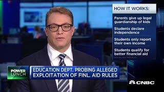 Some students are declaring independence from parents for more financial aid
