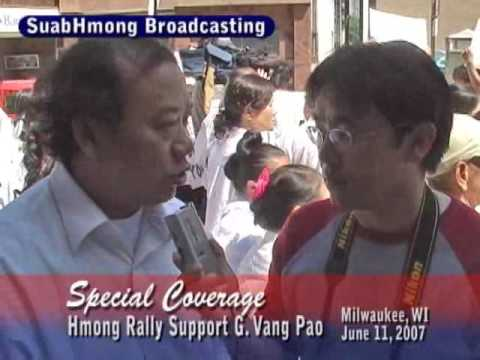 Suab Hmong Radio Special Coverage on Hmong Wisconsin Rally to support VP part 1 of 2