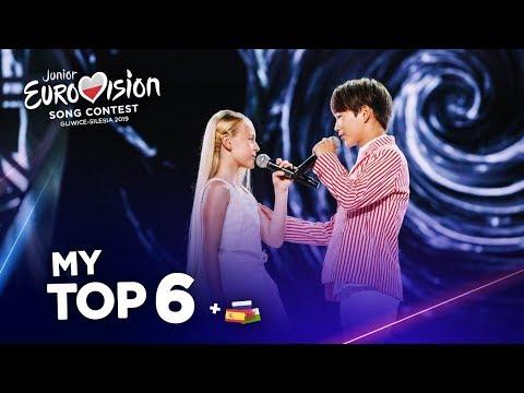 Junior Eurovision 2019 - Top 6 (So far)