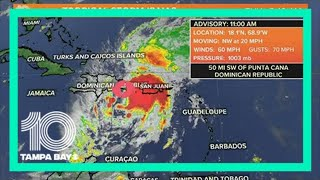 Tropical Storm Isaias cone of uncertainty shifts east