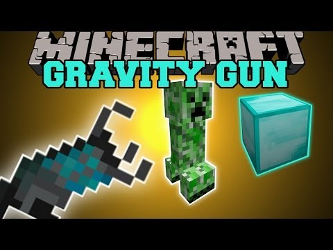Minecraft: GRAVITY GUN (PICK UP AND THROW MOBS AND BLOCKS!) Mod Showcase