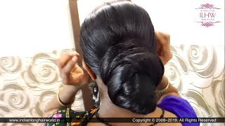 ILHW Sujata's Tight Bun Making & Flaunting With Her Heavy Oiled Below Knee Length Hair