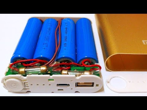 """DIY"" USB Power Bank with 4x 18650 Li-Ion cells"