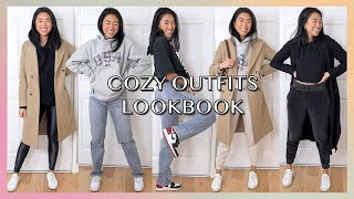 Cozy & Comfy Airport Outfit Lookbook   Casual Outfit Ideas For Winter!