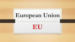 The European Union |EU|