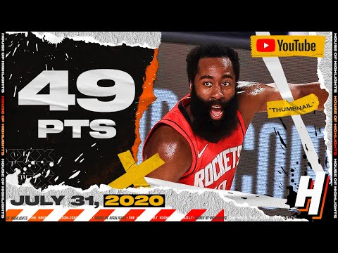 James Harden CRAZY 49 Points Full Highlights | Rockets vs Mavericks | July 31, 2020