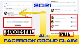 how to claim Facebook group without admin 2021 l Become admin of Facebook Group l  big group claim