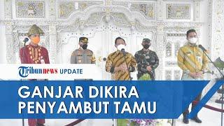 Momen Ganjar Pranowo Dicuekin Mendagri saat Kunjungan ke Kendal, Sempat Dikira Penyambut Tamu