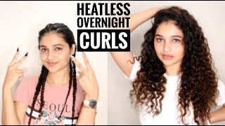 Easy Overnight Heatless Curls Tutorial | Protective Hairstyle Ft. Daniel Wellington | Shruti Amin