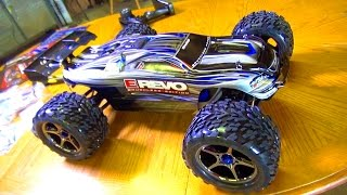 RC ADVENTURES - UNBOXiNG a 1/10th Scale 4WD Traxxas BL E-REVO RC TRUCK!