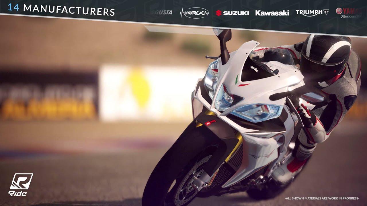 RIDE, le jeu de course de motos, arrive bientôt sur PS4