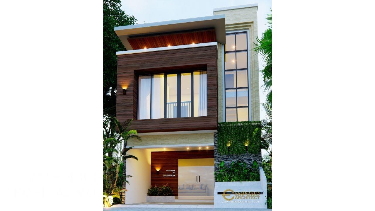 Video 3D Desain Guest House Modern 2 Lantai Ibu Bayu di Kerobokan, Badung, Bali