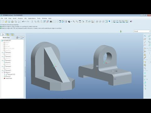 Pro Engineer Part Modeling Training Exercises for Beginners - 2 ...