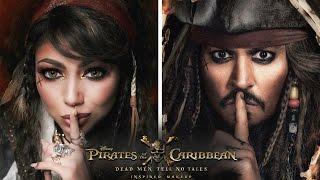 Pirates of the Caribbean JACK SPARROW Inspired Makeup!