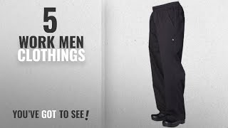 Top 10 Work Men Clothings [ Winter 2018 ]: Chef Works Mens Lightweight Baggy Chef Pants (BBLW)