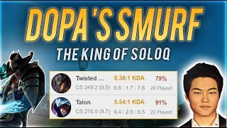 DOPA'S SECRET 82% WIN RATE SMURF! (64W 14L) | GOING FOR RANK 1 KR?