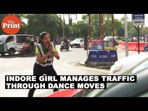 Indore girl manages traffic through dance moves