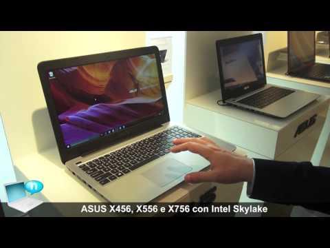 ASUS X556, X756 e ASUS X456 con Intel Skylake