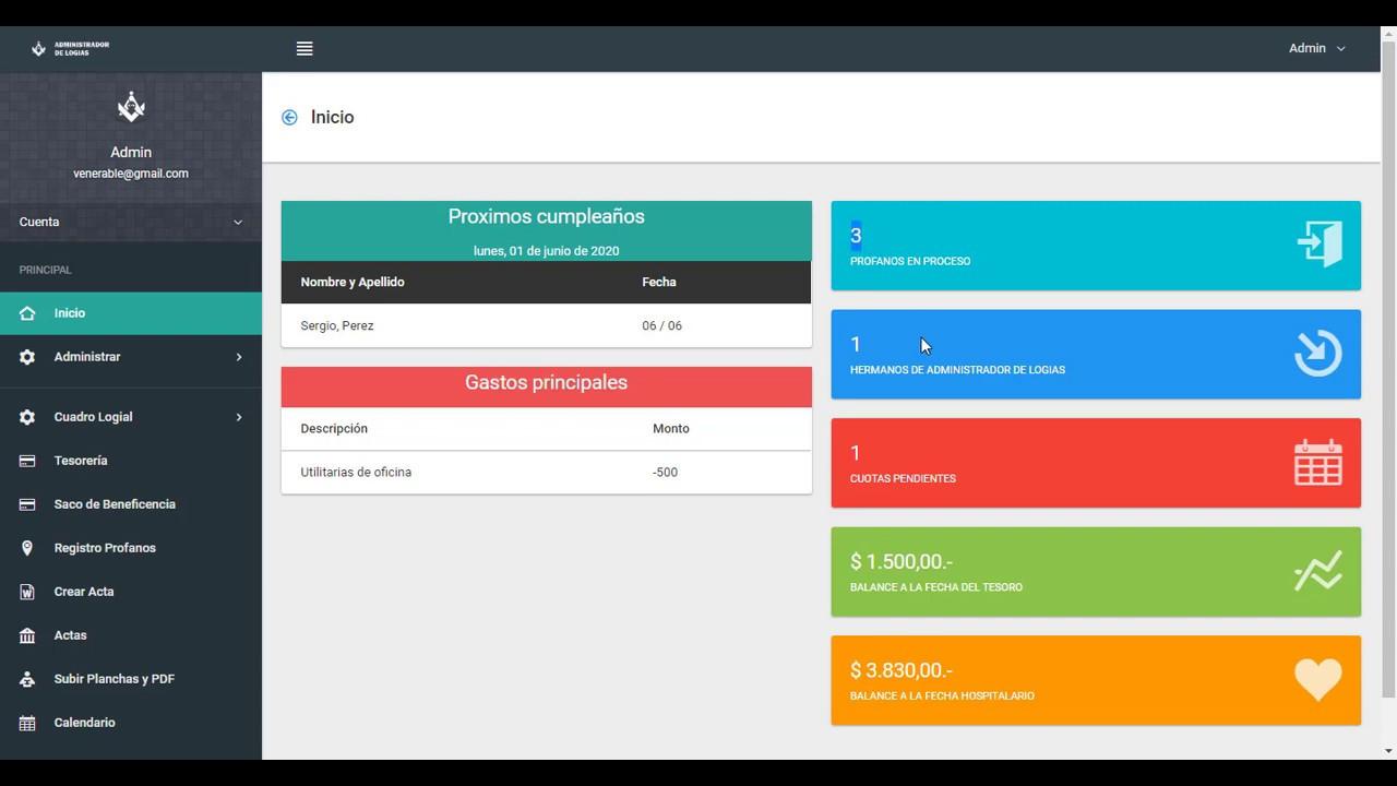 Presentación del Sistema Administrador de Logias Masónicas