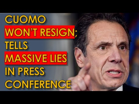 Cuomo won't Resign, ATTACKS AOC and Jerry Nadler during Lie-filled Press conference
