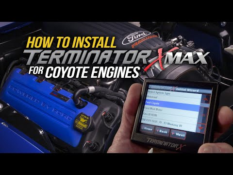 How to Install a Holley Terminator X Max ECU on a Ford Coyote Engine