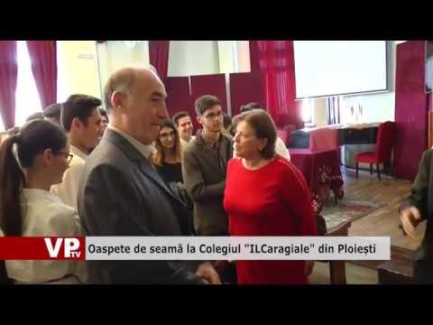 """Oaspete de seamă la Colegiul """"IL Caragiale"""" din Ploiești"""