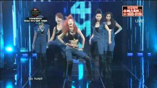 4Minute-Who's next & HuH @ Mnet MCountdown!.mp4