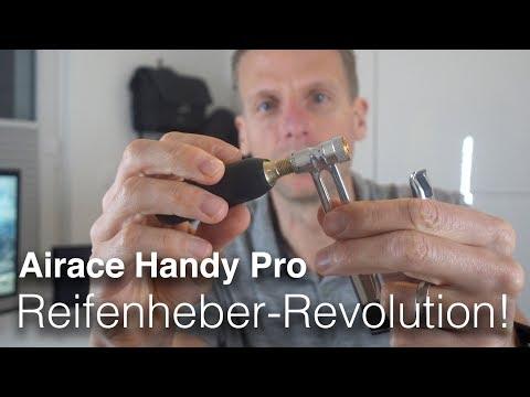 Airace Handy PRO - Metall-Reifenheber + integrierte CO2-Pumpe z.B. für Tubeless
