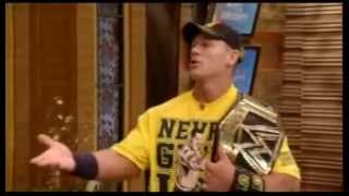 John cena surprise interview on live with kelly and michael show 2013