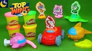 Nick Jr Top Wing Play Doh Play Set Create Swift Rod Brody Penny Cars Toys Dough Toy Video for Kids