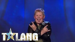 Oliver Rytting rockar juryn av stolarna med sin Kiss-cover i Talang 2017